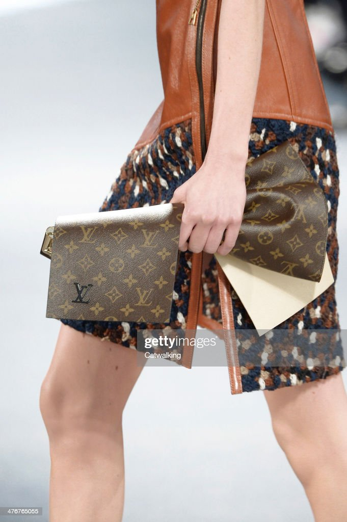 Accessories bag detail on the runway at the Louis Vuitton Autumn Winter 2014 fashion show during Paris Fashion Week on March 5, 2014 in Paris, France.
