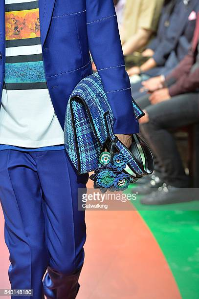 Accessories bag detail on the runway at the Paul Smith Spring Summer 2017 fashion show during Paris Menswear Fashion Week on June 26 2016 in Paris...