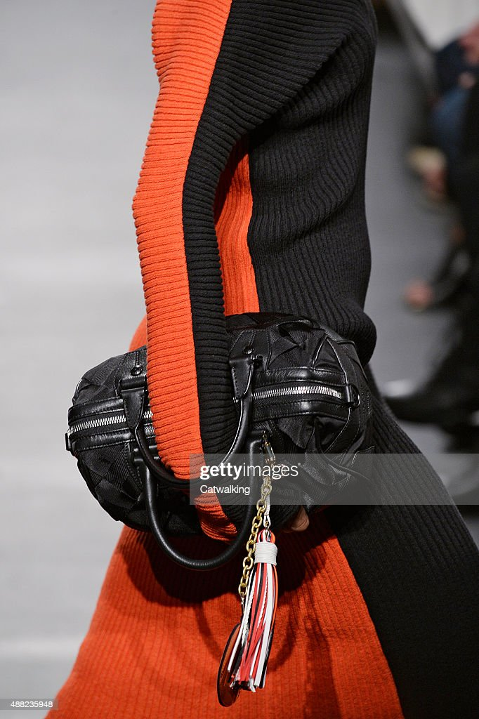 Accessories bag detail on the runway at the Rag Bone Spring Summer 2016 fashion show during New York Fashion Week on September 14 2015 in New York...