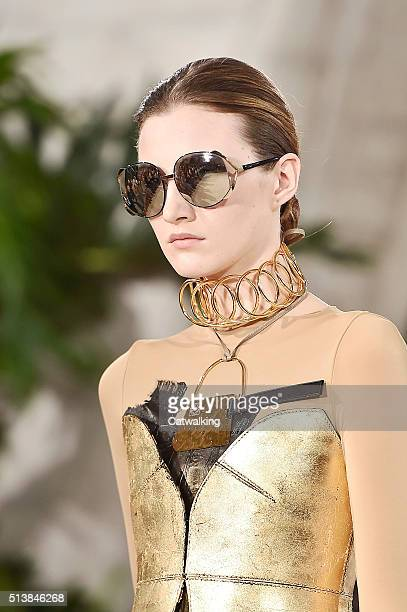 Accessories detail on the runway at the Loewe Autumn Winter 2016 fashion show during Paris Fashion Week on March 4 2016 in Paris France