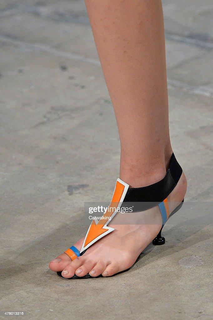 Accessories footwear detail on the runway at the Prada Spring Summer 2016 fashion show during Milan Menswear Fashion Week on June 21 2015 in Milan...