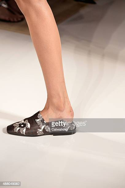 Accessories footwear detail on the runway at the Victoria Beckham Spring Summer 2016 fashion show during New York Fashion Week on September 13 2015...