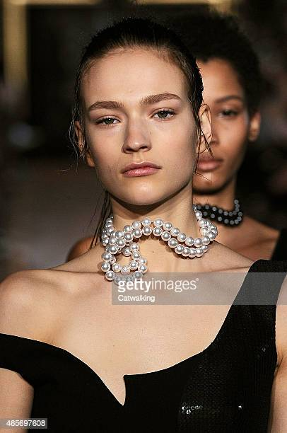 Accessories jewellery detail on the runway at the Stella McCartney Autumn Winter 2015 fashion show during Paris Fashion Week on March 9 2015 in Paris...