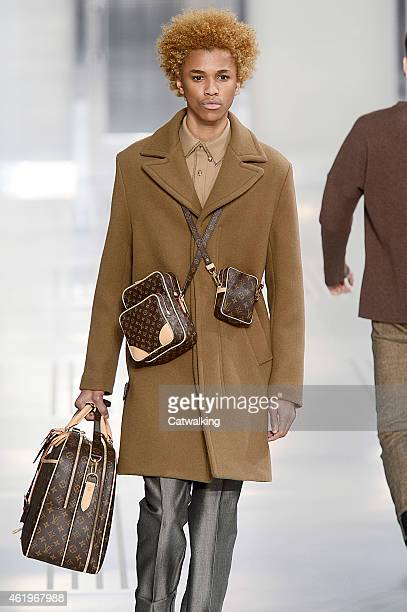 Accessories man bag detail on the runway at the Louis Vuitton Autumn Winter 2015 fashion show during Paris Menswear Fashion Week on January 22 2015...