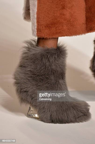 Accessories shoe detail on the runway at the Fendi Autumn Winter 2015 fashion show during Milan Fashion Week on February 26 2015 in Milan Italy
