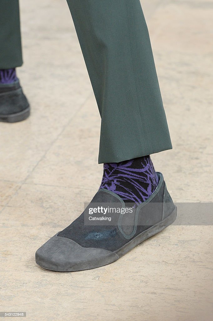Accessories shoe detail on the runway at the Lanvin Spring Summer 2017 fashion show during Paris Menswear Fashion Week on June 26, 2016 in Paris, France.