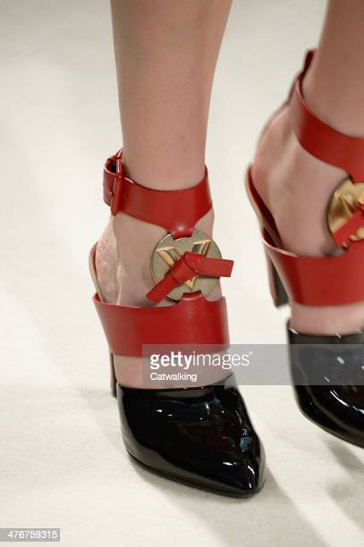 Accessories shoe detail on the runway at the Louis Vuitton Autumn Winter 2014 fashion show during Paris Fashion Week on March 5 2014 in Paris France