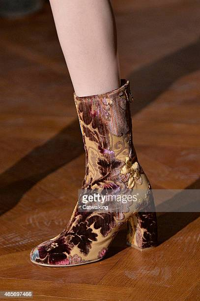 Accessories shoe detail on the runway at the Stella McCartney Autumn Winter 2015 fashion show during Paris Fashion Week on March 9 2015 in Paris...