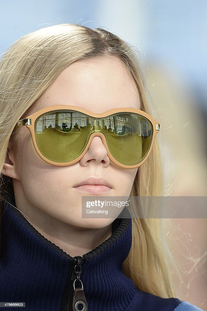 Accessories sunglasses detail on the runway at the Louis Vuitton Autumn Winter 2014 fashion show during Paris Fashion Week on March 5, 2014 in Paris, France.