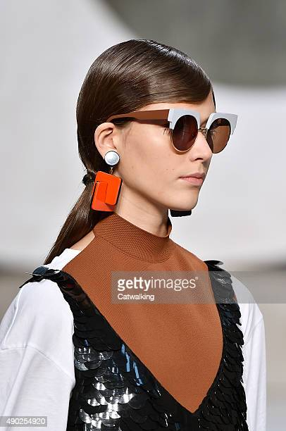 Accessories sunglasses detail on the runway at the Marni Spring Summer 2016 fashion show during Milan Fashion Week on September 27 2015 in Milan Italy
