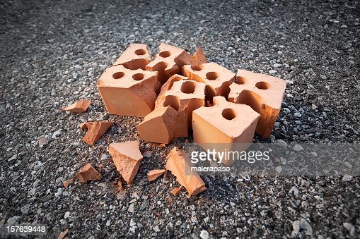 http://media.gettyimages.com/photos/accident-broken-brick-picture-id157639448?s=170667a