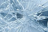 Accident - close-up of broken window