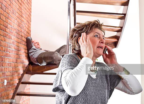 Accident on stairs at home