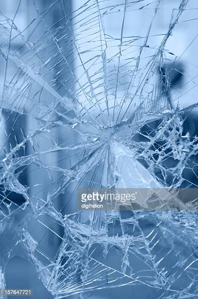 Accident - web of rifts of broken window