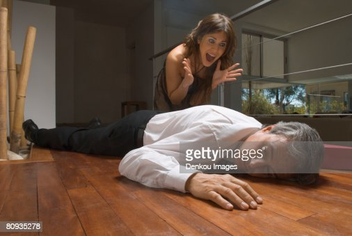 Accidental death of man : Stock Photo