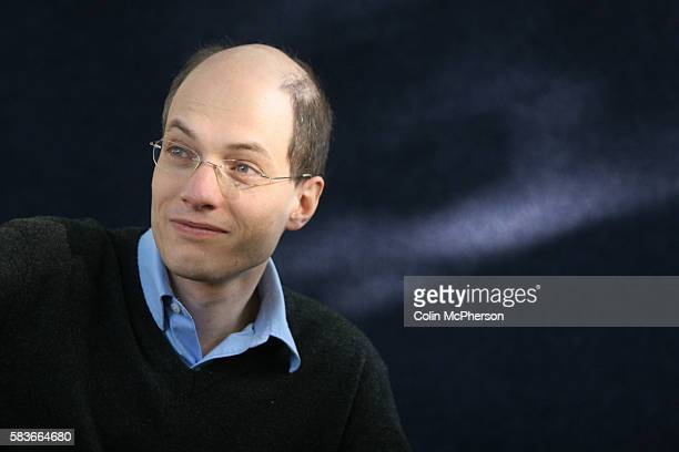 Acclaimed British philosopher and writer Alain de Botton pictured at the Edinburgh International Book Festival where he talked about his writing The...