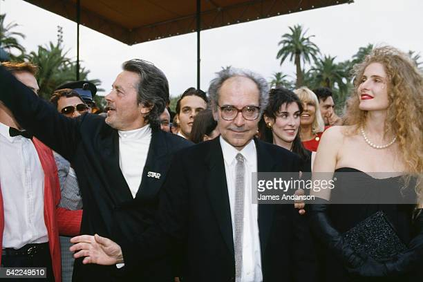 Accompanied by French actor Alain Delon and Italian actress Domiziana Giordano FrenchSwiss director and screenwriter JeanLuc Godard presents his...
