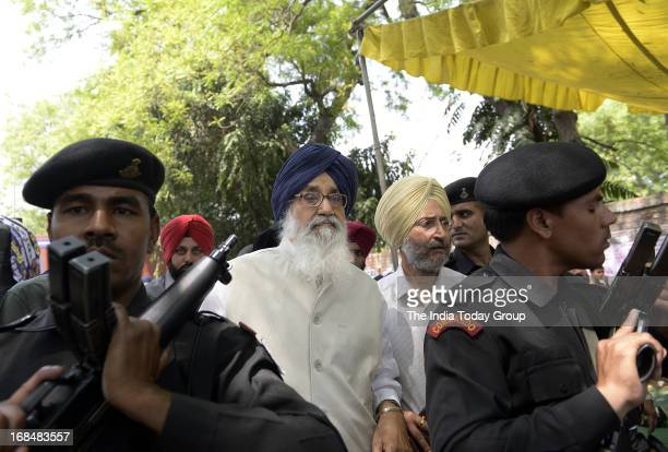 Accompanied by top leaders of national and regional parties Punjab Chief Minister Parkash Singh Badal and Shiromani Akali Dal organized a protest...