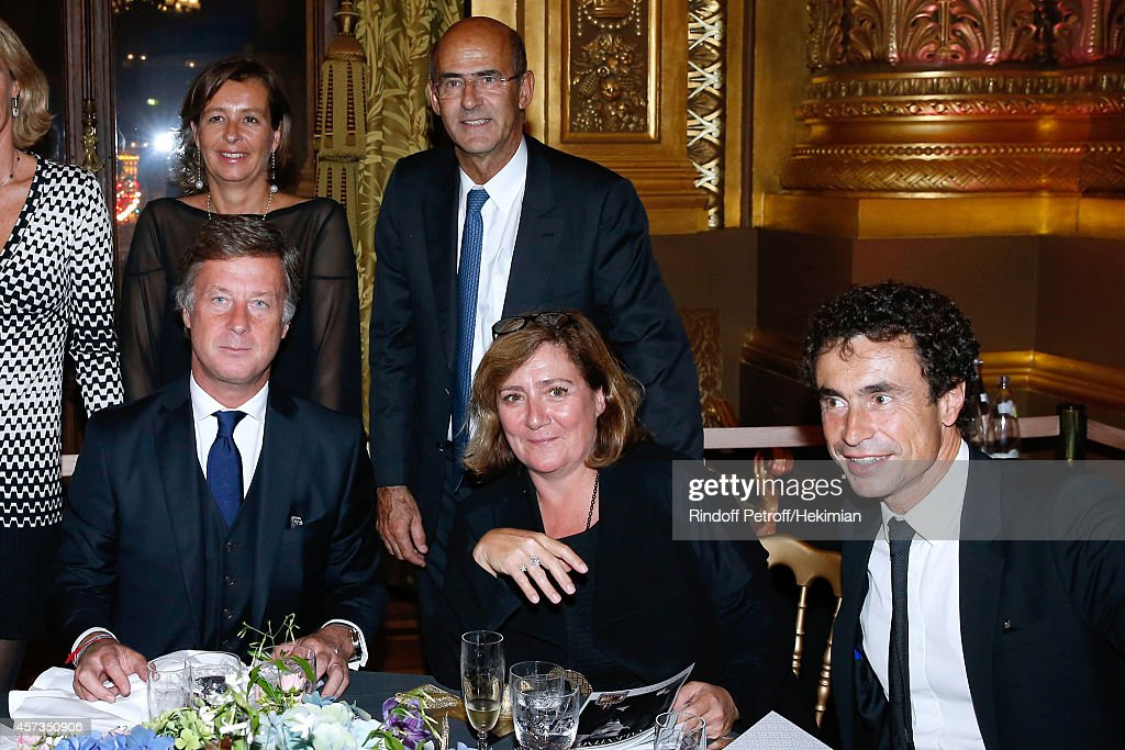 CEO Accor <a gi-track='captionPersonalityLinkClicked' href=/galleries/search?phrase=Sebastien+Bazin&family=editorial&specificpeople=692882 ng-click='$event.stopPropagation()'>Sebastien Bazin</a>, guest, CEO Alstom, <a gi-track='captionPersonalityLinkClicked' href=/galleries/search?phrase=Patrick+Kron&family=editorial&specificpeople=539569 ng-click='$event.stopPropagation()'>Patrick Kron</a>, Guest and Jean Veyrat attend the AROP Charity Gala with Opera 'L'enlevement au Serail' from Mozart at Opera Garnier on October 16, 2014 in Paris, France.