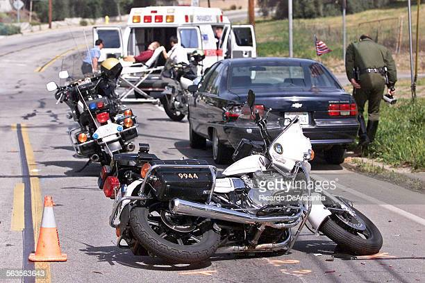 According to PIO Sgt Patti Salas of the Ventura County Sheriff's department this accident happened when motocycle Sheriff's deputy Erich Heinzelmann...