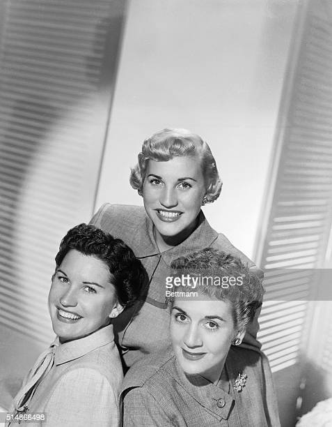 11/8/1950MOST LISTENED TO WOMEN IN HISTORY according to report prepared for the Voice of America US Information Agencyare the Andrews Sistersshown...
