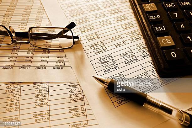 Ziffern und Finanzen