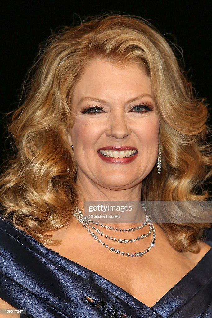 Acctress Mary Hart arrives in style with Mercedes-Benz at the Palm Springs International Film Festival at the Palm Springs Convention Center on January 5, 2013 in Palm Springs, California.