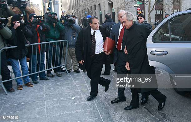 Accused $50 billion swindler Bernard Madoff enters federal court January 14 2009 in New York City US prosecutors want to end his house arrest at his...