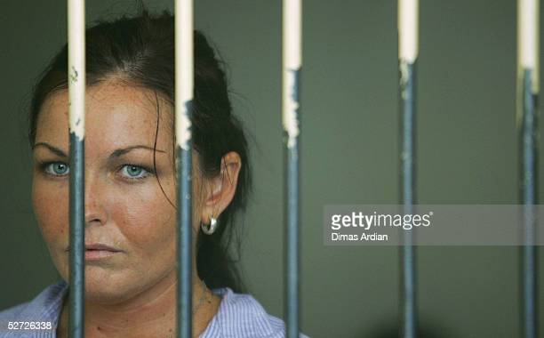 Accused Australian drug runner Schapelle Corby waits in her cell before her trial on April 28 2005 at Denpasar Court Bali Indonesia Corby will make...