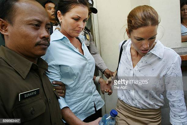 Accused marajuana trafficker Schapelle Corby appearing in Bali's district court on charges of importing 41 kilograms of cannabis to Denpasar Airport...