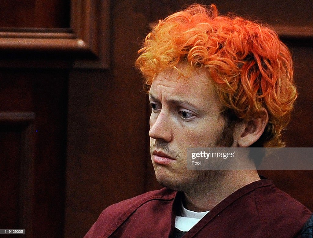 Accused movie theater shooter James Holmes makes his first court appearance at the Arapahoe County on July 23, 2012 in Centennial, Colorado. According to police, Holmes killed 12 people and injured 58 others during a shooting rampage at an opening night screening of 'The Dark Knight Rises' July 20, in Aurora, Colorado.