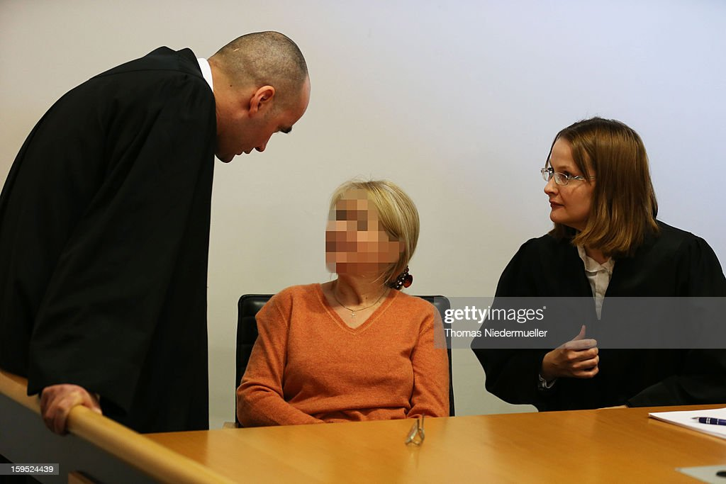 Accused Russian spy with the alias Heidrun Anschlag appears in court on the first day of her trial on January 15, 2013 in Stuttgart, Germany. The couple, with the aliases Andreas and Heidrun Anschlag, came to Germany in 1988, reportedly as KGB spies, and continued operating for the modern Russian intelligence service while maintaining a front as immigrants from South America until their arrest in late 2011 by German police. Among the couple's biggest coups was recruiting Dutch Foreign Ministry worker Raymond Valentino Poeteray, who sold them top secret NATO documents. The couple also had a daughter while living in Germany who is now in her early 20's and reportedly knew nothing of her parents' true identity and espionage activities. German law enforcement authorities came onto the Anschlags' trail following the arrests last year of 10 Russian spies in the United States.