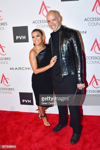 Ace Awards Style Ambassador honoree Eva Longoria and TV personality and designer Robert Verdi attends 21st Annual Ace Awards at Cipriani 42nd Street...