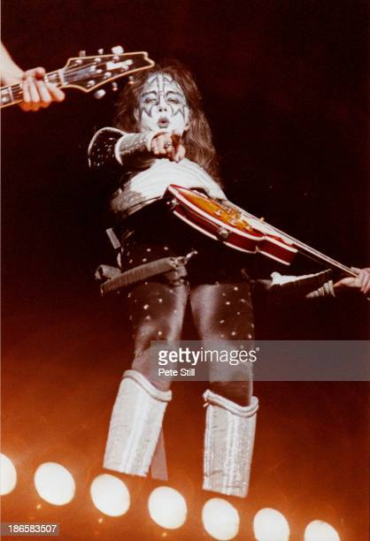 Ace Frehley of Kiss performs on stage at the National Exhibition Centre on October 20th 1996 in Birmingham England