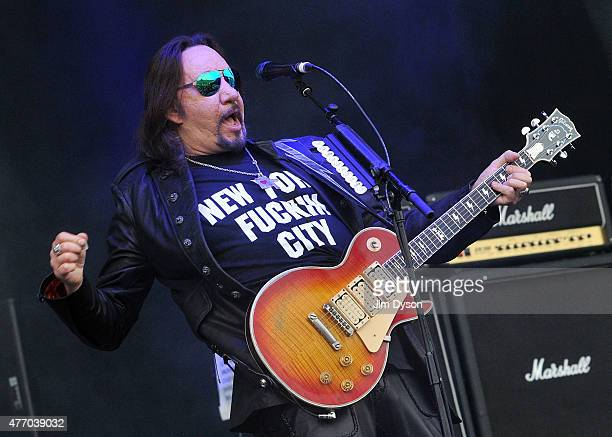 Ace Frehley performs live on stage during Day 2 of the Download Festival at Donington Park on June 13 2015 in Castle Donington England