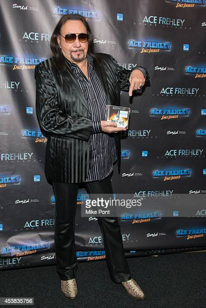 Ace Frehley promotes his new CD 'Space Invader' at Sam Ash Music Store on August 19 2014 in New York City