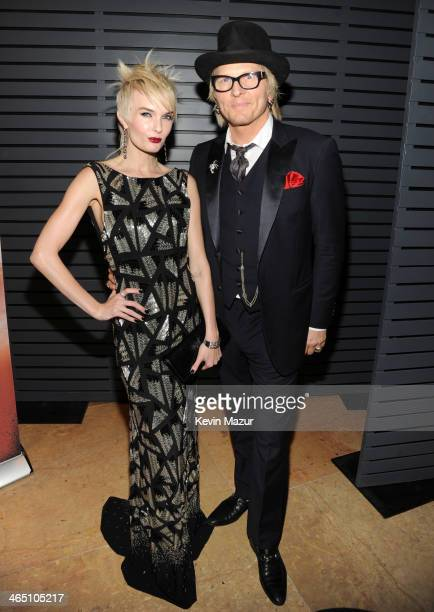 Ace Harper and Matt Sorum during the 56th annual GRAMMY Awards PreGRAMMY Gala and Salute to Industry Icons honoring Lucian Grainge at The Beverly...