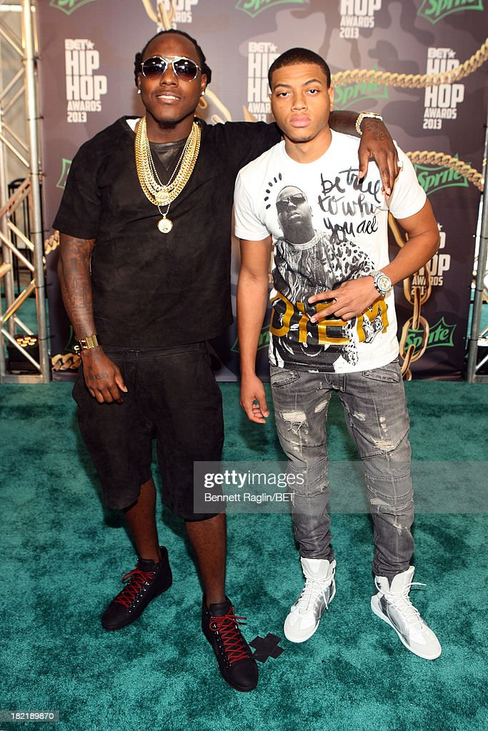 <a gi-track='captionPersonalityLinkClicked' href=/galleries/search?phrase=Ace+Hood&family=editorial&specificpeople=5299065 ng-click='$event.stopPropagation()'>Ace Hood</a> and guest attend the BET Hip Hop Awards 2013 at Boisfeuillet Jones Atlanta Civic Center on September 28, 2013 in Atlanta, Georgia.