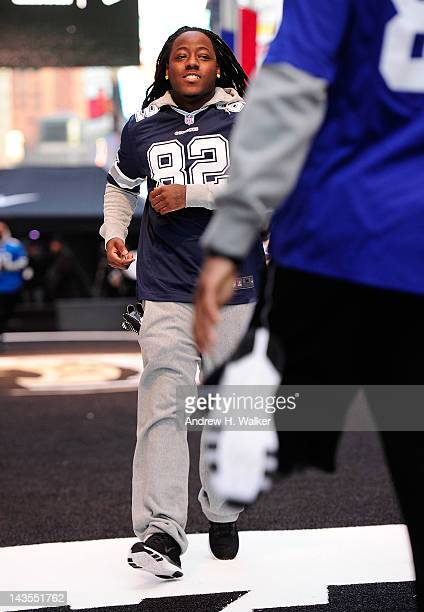 Ace Hood attends Nike Brings Broadway Bowl Football Matchup To The Heart Of Times Square on April 27 2012 in New York City
