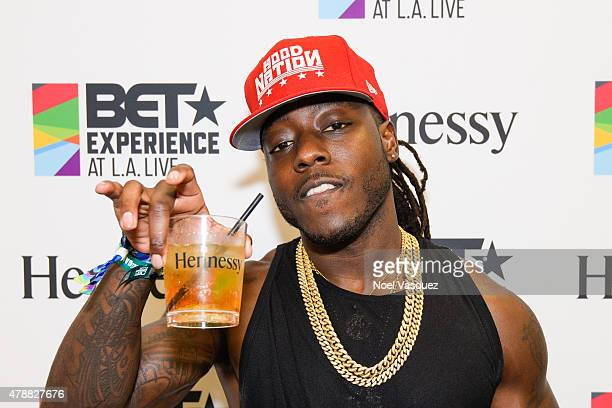 Ace Hood attends the official BET Experience gifting suite sponsored by Hennessy at Los Angeles Convention Center on June 27 2015 in Los Angeles...