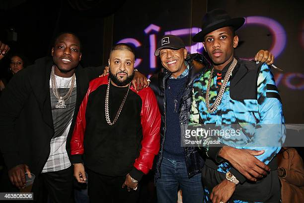 Ace Hood DJ Khaled Russell Simmons and Fabolous attend the NBPA Gala at Cipriani Downtown during NBA AllStar Weekend on February 14 2015 in New York...