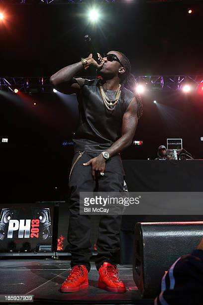 Ace Hood performs at Powerhouse 2013 at the Wells Fargo Center October 25 2013 in Philadelphia Pennsylvania