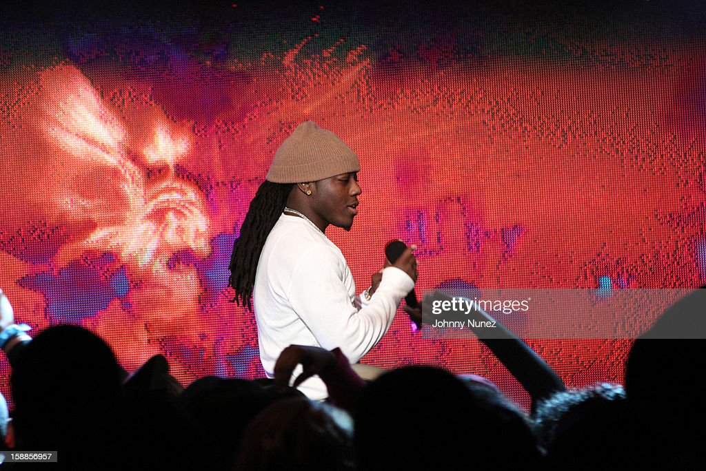 Ace Hood performs at the BET '106 & Party' New Years Eve celebration on December 31, 2012, in New York City.