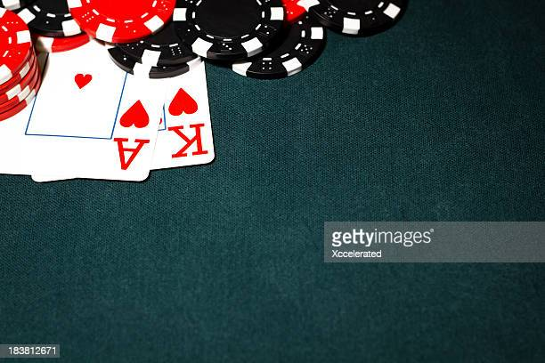 Ace King and Poker Chips