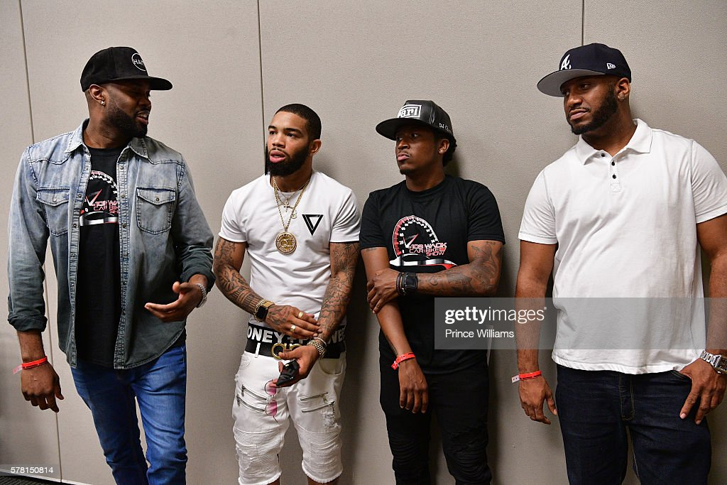 DJ Ace, Skippa Da Flippa, Ferrari Simmons and Emperor Searcy attend the 13th annual Bike Show at Georgia World Congress Center on July 16, 2016 in Atlanta, Georgia.