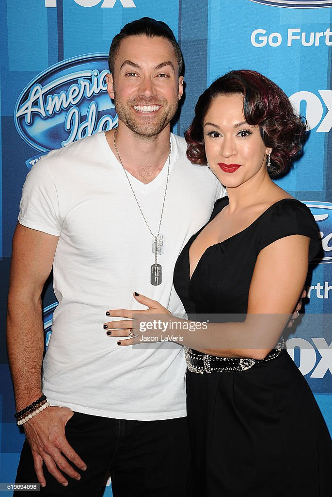 Ace Young and Diana DeGarmo attend FOX's 'American Idol' finale for the farewell season at Dolby Theatre on April 7, 2016 in Hollywood, California.