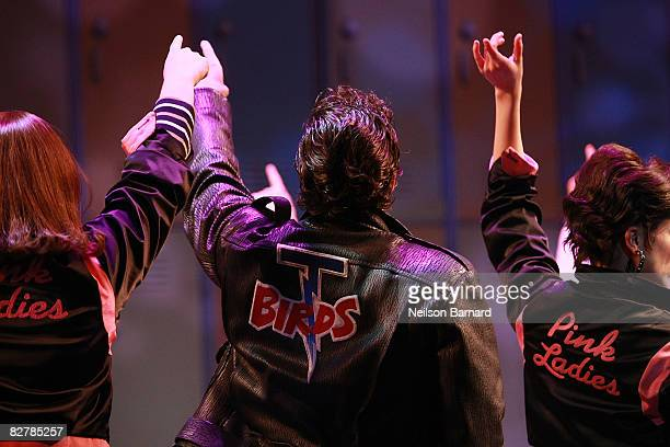 Ace Young performs in 'Grease' on Broadway at the Brooks Atkinson Theatre on September 11 2008 in New York City