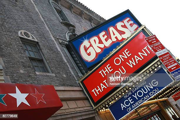 Ace Young prepares for his Broadway debut in 'Grease' at the Brooks Atkinson Theatre on September 11 2008 in New York City