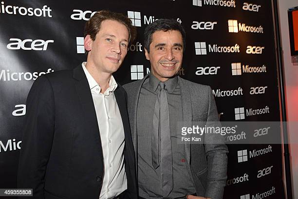 Acer Marketing director Fabrice Massin and Ariel Wizman attend the Acer Pop Up Store Launch Party at Les Halles on November 20 2014 in Paris France