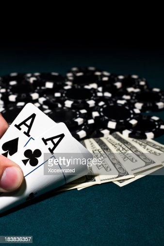Aces, Poker Chips and Cash